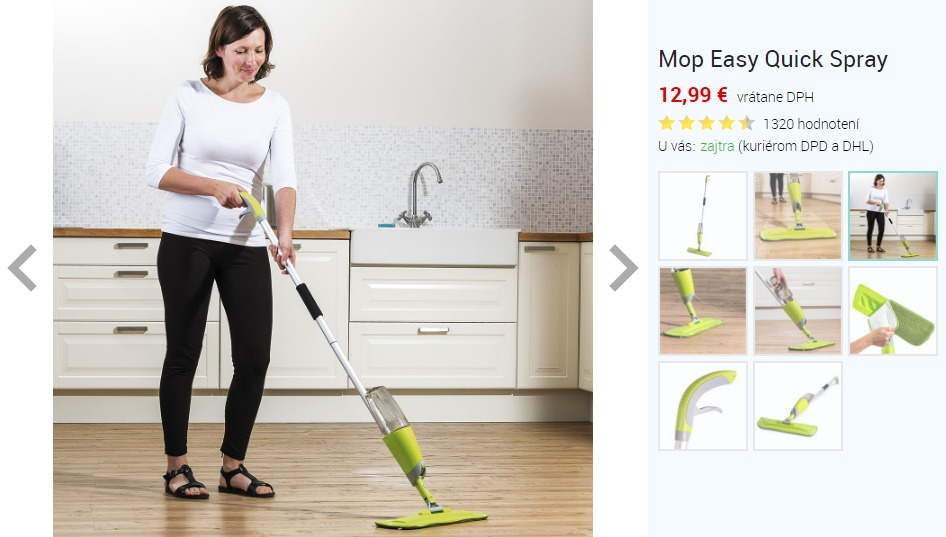 Mop Easy Quick Spray cena